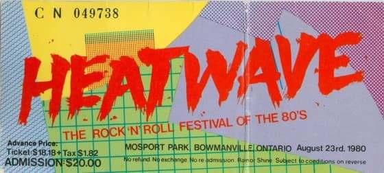 heatwave ticket