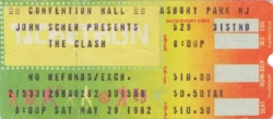 John-Scher-The-Clash-@-Convention-Hall-Ticket-1982